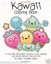 Kawaii Anime Manga Cute Adult Colouring Book Creative Art Therapy Relax Gift