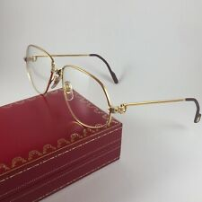 CARTIER Eye Frame c1988 Vintage Panthere Lunettes 22ct Gold Glasses 59-16 140