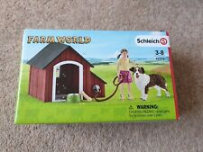 Schleich Farm World Dog Kennel with Australian Shepherd Dog and Girl Figures