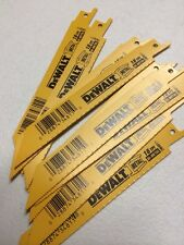 DEWALT DW4811  (10 pcs.) 6 INCH 18 TPI BI-METAL (USA) RECIPROCATING SAW BLADE