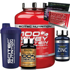 Scitec Nutrition 100 Whey Protein Professional 2350g Eiweiss Zink Creatin Shaker