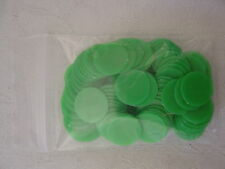 100 Counters, 15mm diameter, Tiddlywinks / Board Games, New, Green