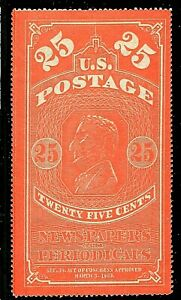 [KN]   Scott  #PR3 [NGAI] 1865 25c Issue Newspaper & Periodical Stamp [$400]