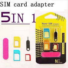 Nano SIM Card to Micro Standard 5in1 for Phone Adapter Adaptor Converter Set