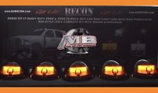 NEW AMBER OLED LED BAR Cab Roof Lights Smoked 2003-2017 Dodge Ram 2500/3500