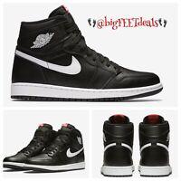 "Size 18 Nike Air Jordan Retro 1 OG High Premium ""Ying Yang"" BLACK 555088 011"