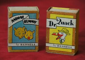 Vintage 2 Mini Card Games by Russell Dr. Quack and Animal Rummy
