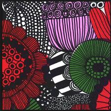 Marimekko paper napkins, 33x33 cm, Siirtolapuutarha 20 cts decoupaging Finland