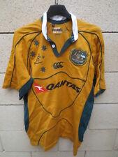 Maillot rugby AUSTRALIE AUSTRALIA vintage shirt Canterbury WALLABIES S