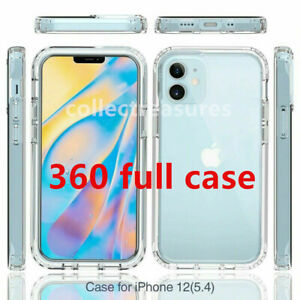 360 CLEAR Case For iPhone 12 11 Pro XS Max XR X 8 7 SE 2 Full Cover Silicone Gel