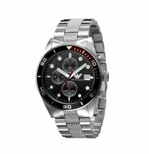 EMPORIO ARMANI AR5855 STAINLESS STEEL CHRONOGRAPH MENS WATCH NEW