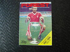 Nottingham Forest v Oesters Sep 1979 European Cup 1st rnd 1st Leg