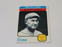 1973 TOPPS BASEBALL Set Break #471 TY COBB ALL TIME HIT LEADER NM-MT +