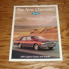 Original 1978 Chevrolet Caprice Classic & Impala Sales Brochure 78 Chevy 2/78