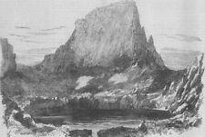 FRANCE. Pic de Sauvegarde, where Harwich died, antique print, 1859