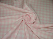 4 Metres Pink Check Jacquard Curtain Upholstery Cushion Roman Blinds Fabric