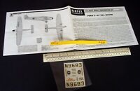 *60s/70s Vintage Airfix Instructions & Decals (No Kit) Ford 5-AT Tri-Motor (C221