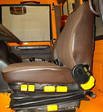 2 Sitzbezüge Stoff braun (Sitz+ Lehne)für UNIMOG 417, ISRI 6500, neu! Fahrersitz