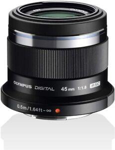 Olympus M.Zuiko Digital 45mm f/1.8 MFT Portrait Lens - Black - New