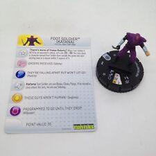 Heroclix Teenage Mutant Ninja Turtles set Foot Soldier #009 Common figure w/card