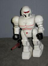 Vintage 1994 - Ancien Robot Blanc qui avance  WANG KWONG  (Haut: 23 cm )