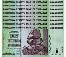 8/ 50 TRILLION ZIMBABWE DOLLAR MONEY CURRENCY.UNC* USA SELLER*