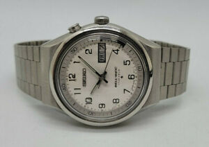 RARE VINTAGE SEIKO BELL-MATIC SILVER DIAL DAYDATE AUTO 4006 -6070 MAN'S WATCH