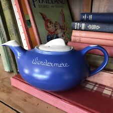 More details for vintage 1950's - 1960's blue & white teapot windermere country cottage kitchen.