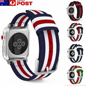 For Apple Watch Series 5/4/3/2/1 Band Woven Nylon Watch Strap Sports iWatch Band