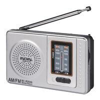 Pocket Receiver Battery Powered Antenna AM/FM Radio Portable Mini Telescopic New