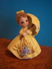 george good girl with umbrella figurine vintage home collectible 1980's