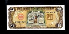 "1982 Republica Dominicana $20 Pesos ORO""SPECIMEN"" UNCIRCULATED"