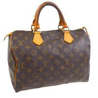 LOUIS VUITTON SPEEDY 30 HAND BAG PURSE MONOGRAM CANVAS M41526 TH0091 NR15420