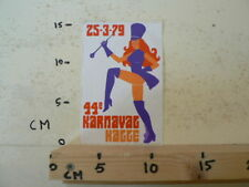 STICKER,DECAL PIN-UP GIRL 44 E KARNAVAL HAGGE 25-3-79