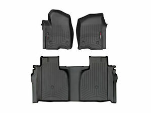 WeatherTech Front//Rear Black Floor Mat Rubber WTCB081136