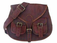 Vintage Womens Genuine Real Leather Handbag Shoulder Bag Satchel Messenger