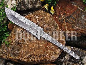 """9"""" long handmade damascus steel blank blade hunting knife Full Tang Knife.YR7"""