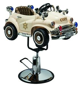 Barber Chair  - Children Chairs - Hair Styling New Style - Police Car