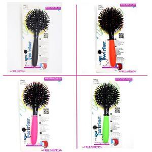 Twirler Ball Hair Brush, Neon Pink, Large 4 colors ball brush