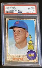 PSA 6 1968 Topps Tom Seaver #45 Baseball Card New York Mets