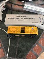 "HO Scale ""Union Pacific"" OSL 47736 Livestock Cattle Freight Train Car"
