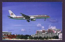 LMH Postcard  AMERICAN AIRLINES Boeing B-757-223 St. Maarten Netherland Antilles