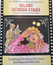 SILENT SCREEN STARS Paper Doll Book--6 Hollywood Stars, 41 Movie Costumes!