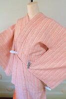 Kimono Komon Chemical fiber Women Japanese Geisha Costume Robe /435