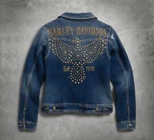 Harley-Davidson Damen Jeansjacke, Denim, Nieten, Gold *96021-18VW/000M* Gr. M