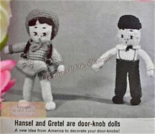 Vintage Knitting Pattern 'Hansel & Gretel' Doorknob Dolls To Decorate Your Door!