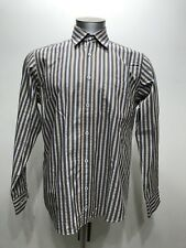 Bugachi Uomo Stripes Botton Down Men Long Sleeve Size Medium
