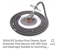 TACKLIFE Suction Pool Cleaner, Quiet Automatic Pool Vacuum with 32ft Hose and