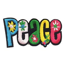 "Colorful Peace Sign Hippie Patch Embroidered Iron Sew On Appliques 3.7""X1.9"""