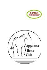 Appaloosa Horse Club Sticker Vinyl Decal 4 Pack